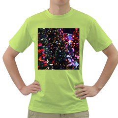 Abstract Background Celebration Green T Shirt