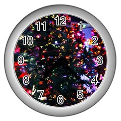 Abstract Background Celebration Wall Clocks (silver)