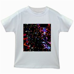 Abstract Background Celebration Kids White T Shirts