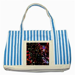 Abstract Background Celebration Striped Blue Tote Bag