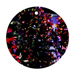 Abstract Background Celebration Round Ornament (two Sides)