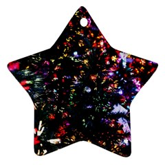 Abstract Background Celebration Star Ornament (two Sides)
