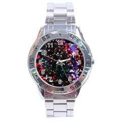 Abstract Background Celebration Stainless Steel Analogue Watch