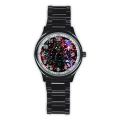Abstract Background Celebration Stainless Steel Round Watch