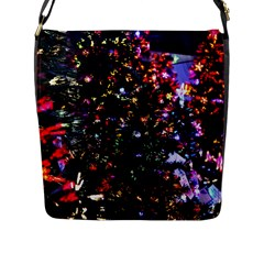 Abstract Background Celebration Flap Messenger Bag (l)