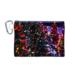 Abstract Background Celebration Canvas Cosmetic Bag (m)