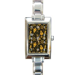 Christmas Background Rectangle Italian Charm Watch