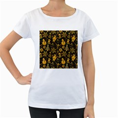 Christmas Background Women s Loose Fit T Shirt (white)