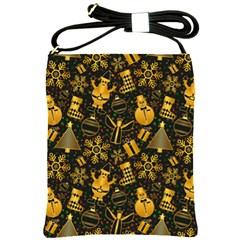 Christmas Background Shoulder Sling Bags