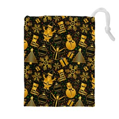 Christmas Background Drawstring Pouches (extra Large)