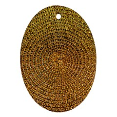 Background Gold Pattern Structure Ornament (oval)