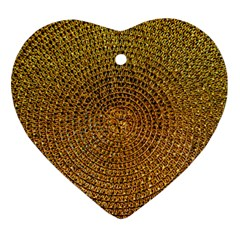 Background Gold Pattern Structure Ornament (heart)