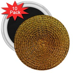 Background Gold Pattern Structure 3  Magnets (10 Pack)
