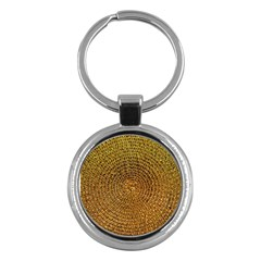 Background Gold Pattern Structure Key Chains (round)
