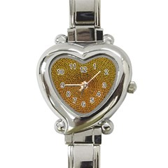 Background Gold Pattern Structure Heart Italian Charm Watch