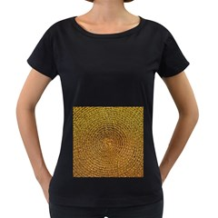 Background Gold Pattern Structure Women s Loose Fit T Shirt (black)