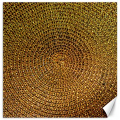 Background Gold Pattern Structure Canvas 12  X 12