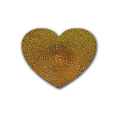 Background Gold Pattern Structure Heart Coaster (4 Pack)