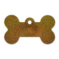 Background Gold Pattern Structure Dog Tag Bone (one Side)