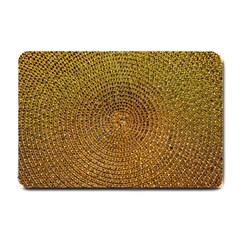 Background Gold Pattern Structure Small Doormat
