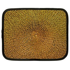 Background Gold Pattern Structure Netbook Case (large)