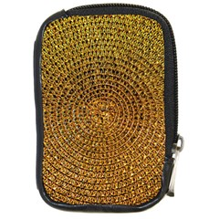 Background Gold Pattern Structure Compact Camera Cases