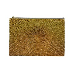 Background Gold Pattern Structure Cosmetic Bag (large)