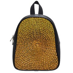 Background Gold Pattern Structure School Bag (small)