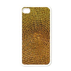 Background Gold Pattern Structure Apple Iphone 4 Case (white)