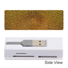 Background Gold Pattern Structure Memory Card Reader (stick)