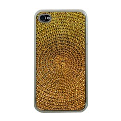 Background Gold Pattern Structure Apple Iphone 4 Case (clear)