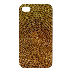 Background Gold Pattern Structure Apple Iphone 4/4s Hardshell Case