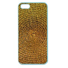 Background Gold Pattern Structure Apple Seamless Iphone 5 Case (color)
