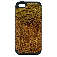 Background Gold Pattern Structure Apple Iphone 5 Hardshell Case (pc+silicone)