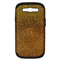Background Gold Pattern Structure Samsung Galaxy S Iii Hardshell Case (pc+silicone)