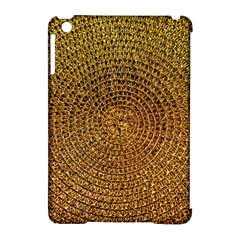 Background Gold Pattern Structure Apple Ipad Mini Hardshell Case (compatible With Smart Cover)