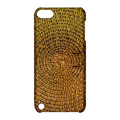 Background Gold Pattern Structure Apple Ipod Touch 5 Hardshell Case With Stand