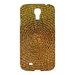 Background Gold Pattern Structure Samsung Galaxy S4 I9500/i9505 Hardshell Case