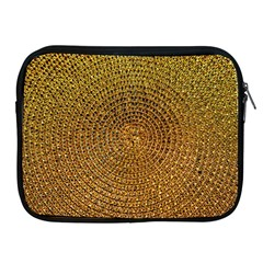 Background Gold Pattern Structure Apple Ipad 2/3/4 Zipper Cases