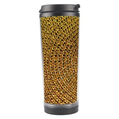 Background Gold Pattern Structure Travel Tumbler