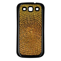 Background Gold Pattern Structure Samsung Galaxy S3 Back Case (black)