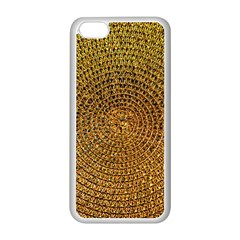 Background Gold Pattern Structure Apple Iphone 5c Seamless Case (white)