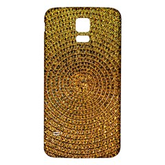 Background Gold Pattern Structure Samsung Galaxy S5 Back Case (white)
