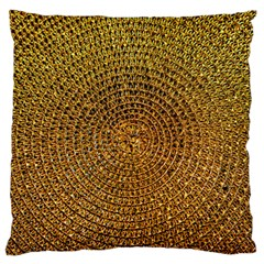 Background Gold Pattern Structure Large Flano Cushion Case (one Side)