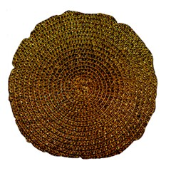 Background Gold Pattern Structure Large 18  Premium Flano Round Cushions