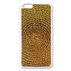 Background Gold Pattern Structure Apple Iphone 6 Plus/6s Plus Enamel White Case