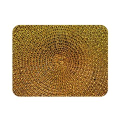 Background Gold Pattern Structure Double Sided Flano Blanket (mini)