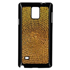Background Gold Pattern Structure Samsung Galaxy Note 4 Case (black)