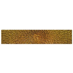 Background Gold Pattern Structure Small Flano Scarf