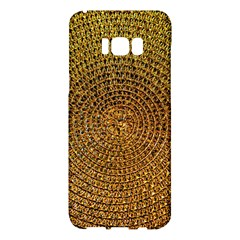 Background Gold Pattern Structure Samsung Galaxy S8 Plus Hardshell Case